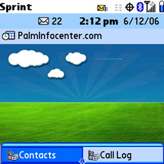 Palm Treo 700p Phone app