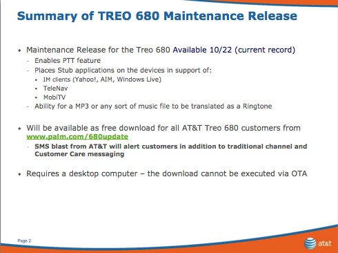 Treo 680 Updates