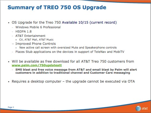 Treo 750 Windows Mobile 6 Update