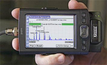 Palm Vibration Spectrum Analyzer