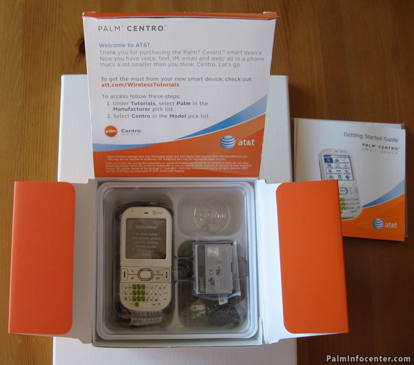 AT&T Palm Centro unboxing