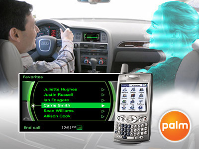 Audi and Treo 650 Bluetooth System