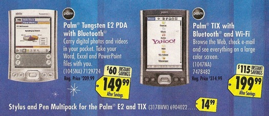 BestBuy Palm PDA Sale