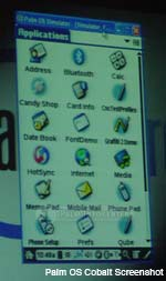 Palm OS 6 Cobalt Screen Capture ~ Click for more