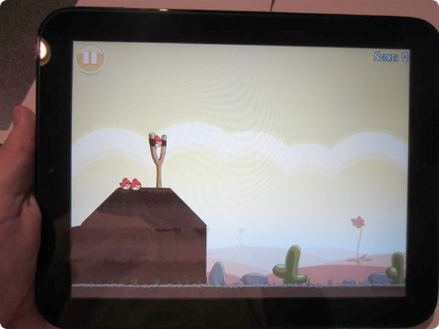 HP TouchPad Review Angry Birds Game