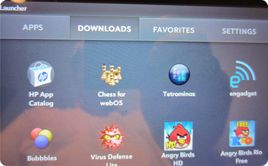 HP TouchPad Review Apps