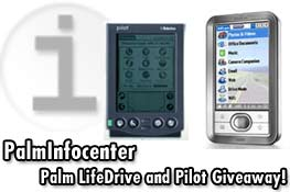 PalmInfocenter Palm LifeDrive and Pilot 1000 Giveaway