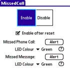 MissedCall Palm OS