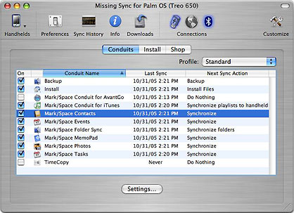 The Missing Sync for Palm OS & Mac