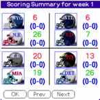 mySchedule NFL 2007 Palm OS