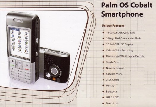 Palm OS Cobalt Oswin phone