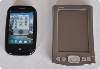 Palm Pre and Palm Tungsten T5 PDA