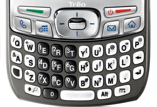 Palm Treo 700p keyboard