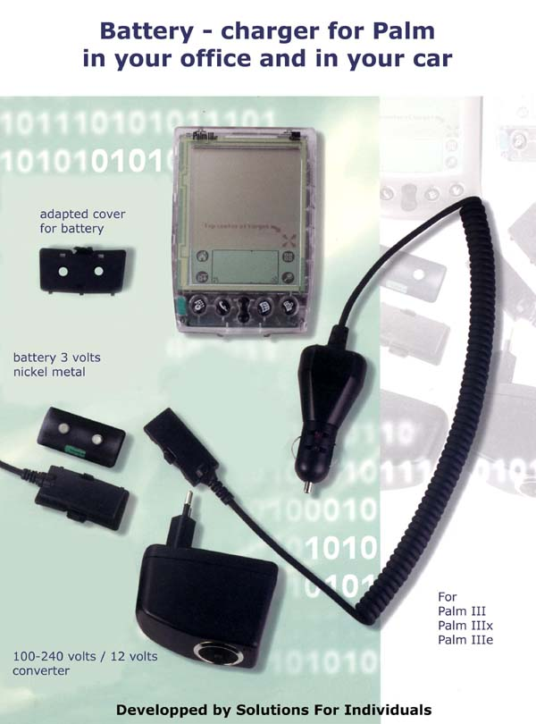 Palm III series rechargable battery kit -Palm Edition users: See the desktop site for the picture