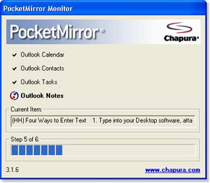 Chapura PocketMirror Outlook Sync Software Updated for Palm OS
