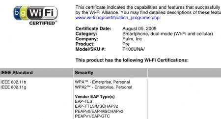 GSM Palm Pre