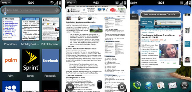 Palm WebOS Screenshots