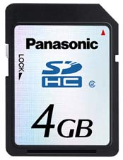SDHC 4gb SD Card from Panasonic