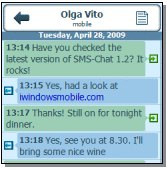 SMS Chat Windows Mobile