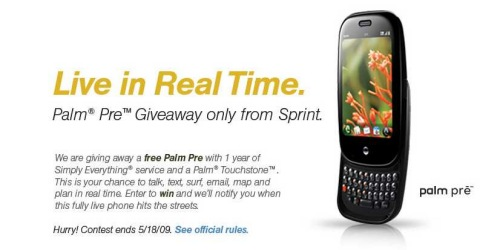 Sprint Pre Giveaway contest