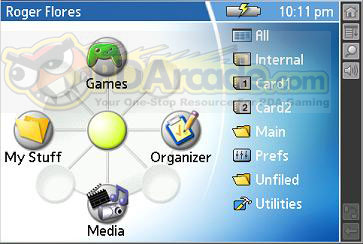 Tapwave Zodiac Screenshot