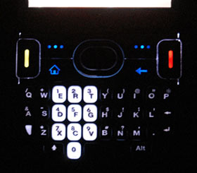 Treo 500 backlights