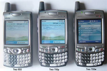 The current Palm Treo Family