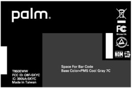 Treo Pro CDMA FCC Label