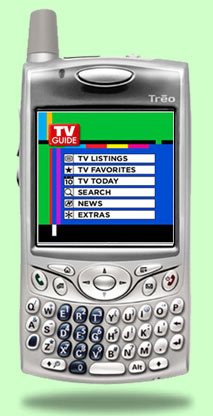 Treo 650 with TV Guide Mobile