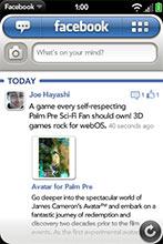 facebook webos palm