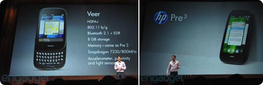 HP Veer Pre 3 webos