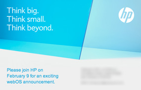 HP webOS event