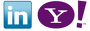 linkedin yahoo logos