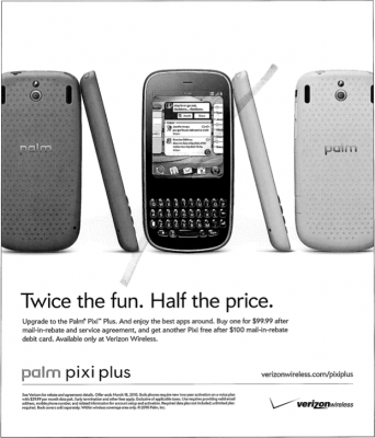 palm verizon webos print ad