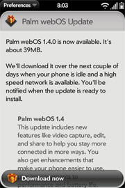 Palm webos 1.4