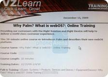 verizon webos palm training