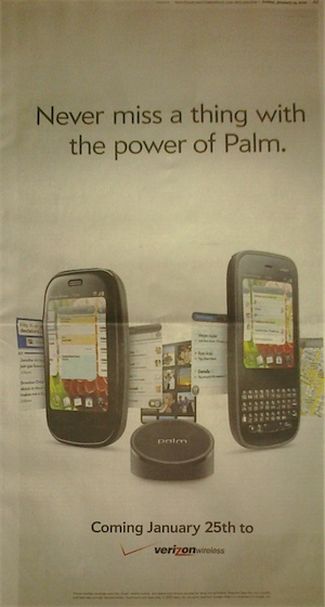 Verizon webos Ad in the WSJ