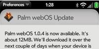 webos update pre
