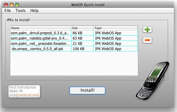 webos quick install